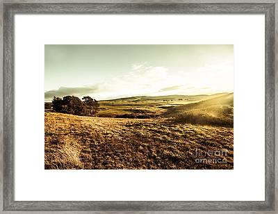 Oatlands Rolling Hills Framed Print by Jorgo Photography - Wall Art Gallery