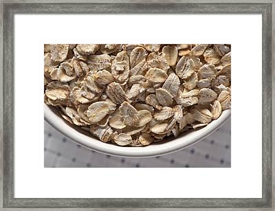 Oatmeal Framed Print by Steve Gadomski
