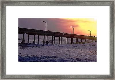 O.b. Pier Framed Print