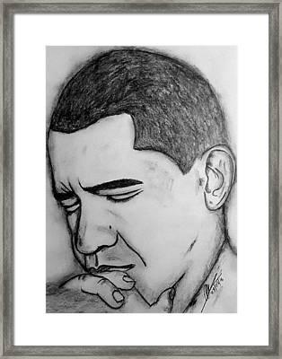 Obama 2 Framed Print by Collin A Clarke