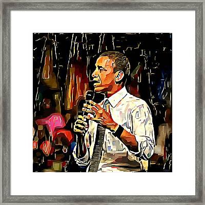 Obama 2 Framed Print