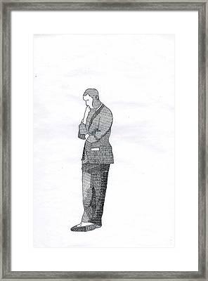 Obama Framed Print by Benjamin Godard