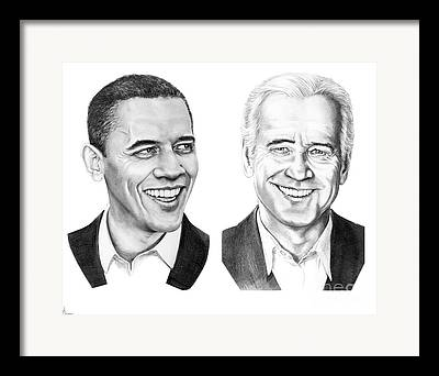 Obama Drawings Drawings Framed Prints