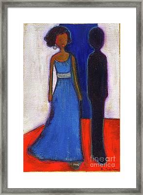 Obama Black And Blue Framed Print by Ricky Sencion