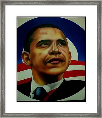 Obama Framed Print by Brett Sauce