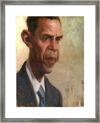 Obama Framed Print by Court Jones