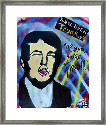 Obama Fired Framed Print by Tony B Conscious