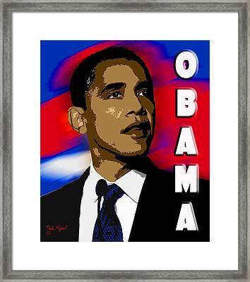Obama Framed Print by John Keaton