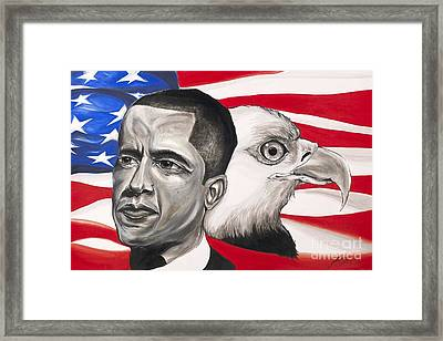 Obama Framed Print by Keith  Thurman