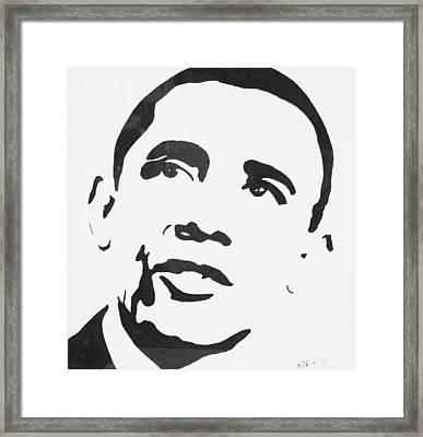 Obama Framed Print by Kenneth Regan