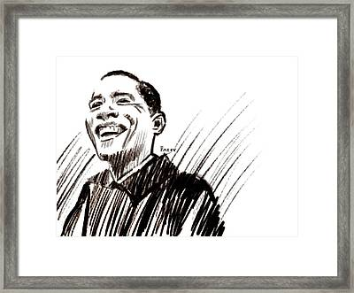 Obama Framed Print by Michael Facey