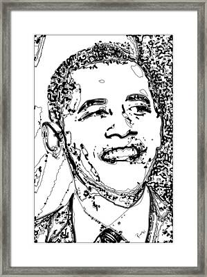 Obama Framed Print by Rabi Khan