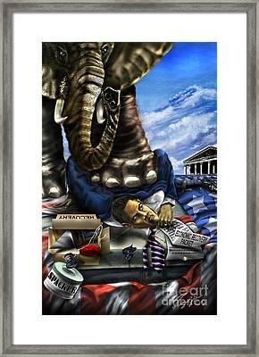 Obama Framed Print by Reggie Duffie