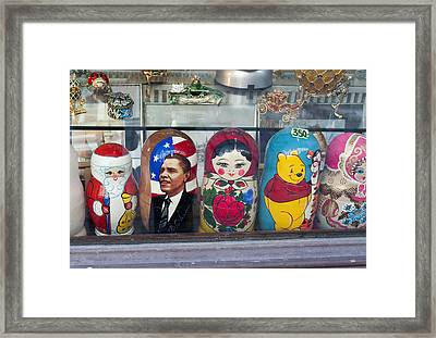 Obama Russian Doll 0183 Framed Print by Charles  Ridgway