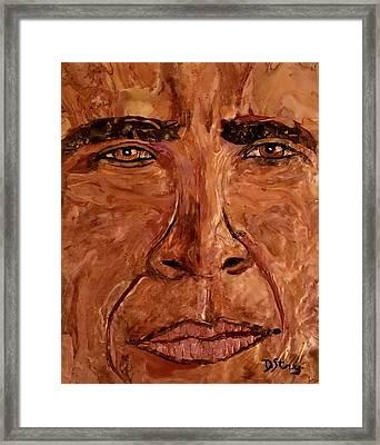 Obama Spirit Of A Lion Framed Print