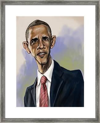 Obama Framed Print by Tyler Auman