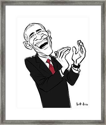 Obama Framed Print by Victor Navone
