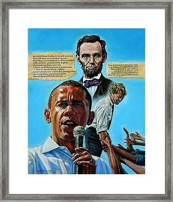 Obamas Heritage Framed Print