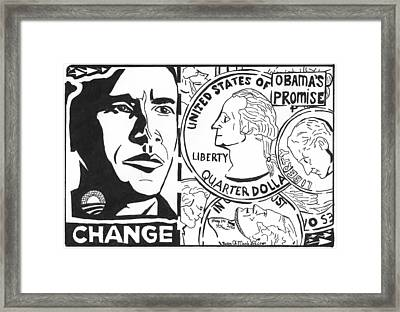 Obama's Promise Framed Print by Yonatan Frimer Maze Artist