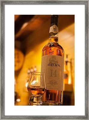 Oban Whisky Framed Print