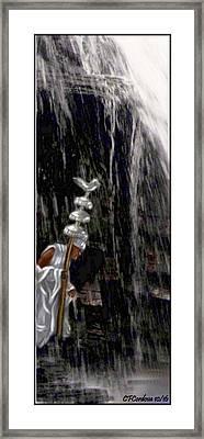 Obatala Is Coming Framed Print by Carmen Cordova