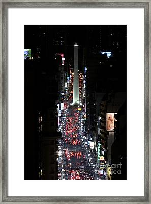 Obelisk At Night Framed Print
