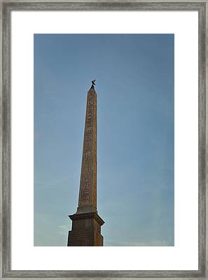Obelisk Of Domitian Framed Print by JAMART Photography