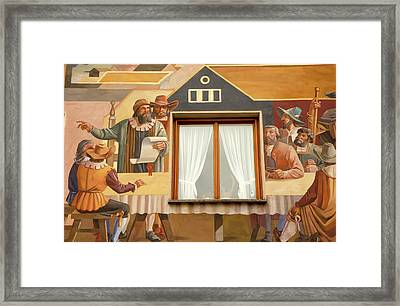 Framed Print featuring the photograph Oberammergau Frescoe by KG Thienemann