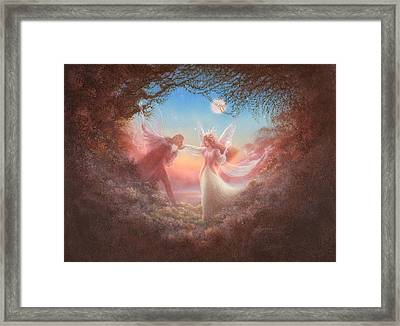 Oberon And Titania Framed Print by Jack Shalatain