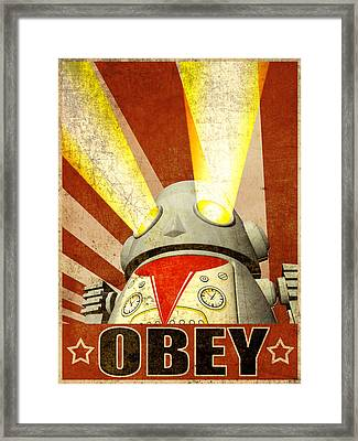 Obey Version 2 Framed Print by Michael Knight
