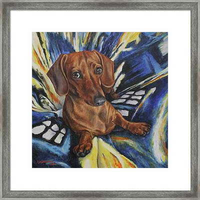 Dachshund Time Lord Framed Print