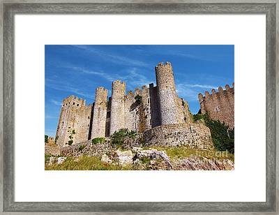 Obidos Castle Framed Print by Carlos Caetano