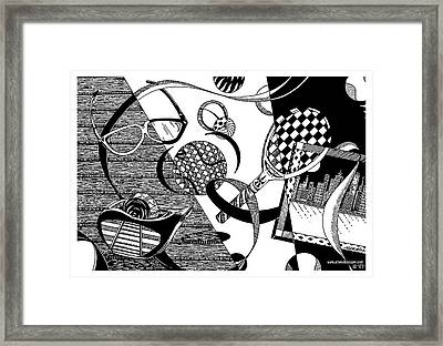 Objects And Ribbon Framed Print by James Sayer