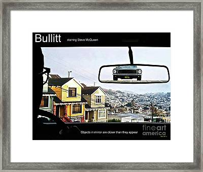 Objects In Mirror Are Closer Than They Appear, Buillitt, Steve Mcqueen Framed Print