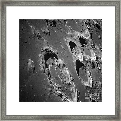 Oblique View Of The Lunar Surface Framed Print by Stocktrek Images