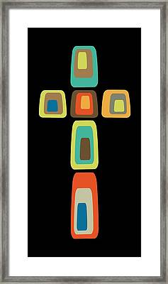 Framed Print featuring the digital art Oblong Cross by Donna Mibus