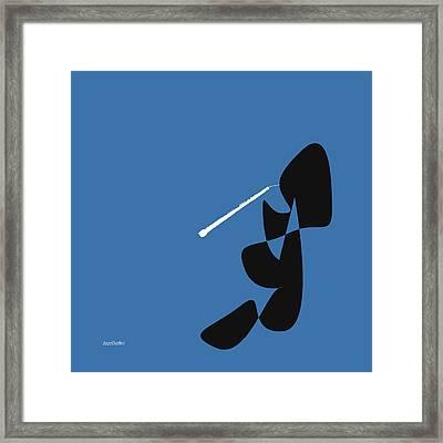 Oboe In Blue Framed Print by David Bridburg