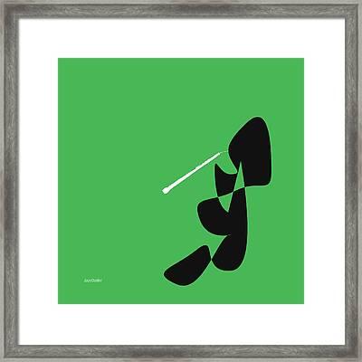 Oboe In Green Framed Print by David Bridburg