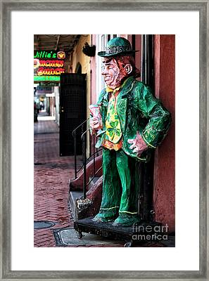O'briens Leprechaun Framed Print by John Rizzuto