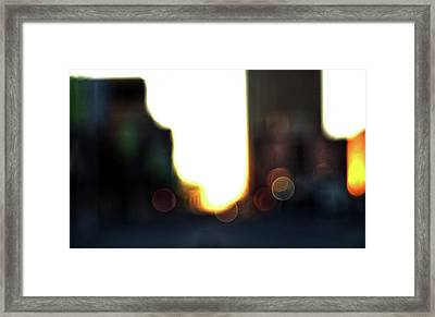 Obscure City Framed Print