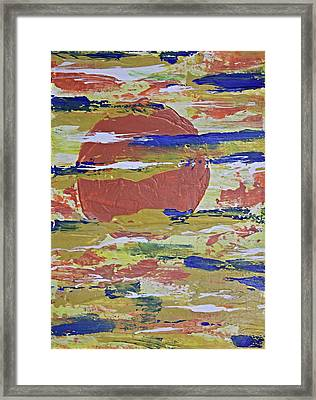 Obscure Orange Abstract Framed Print