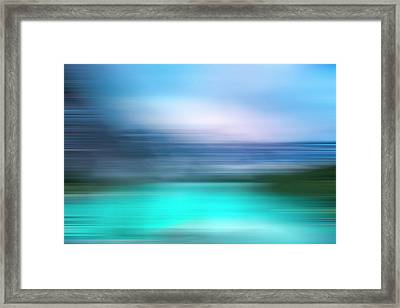 Obscurred Moraine Lake Framed Print