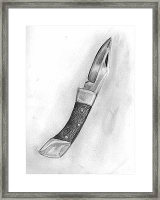 Observation - Drawing Metal Framed Print by Katie Alfonsi