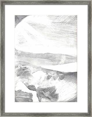 observation - Out the airplane window Framed Print by Katie Alfonsi
