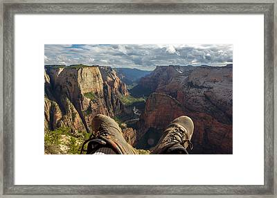 Observation Hike Framed Print by Cole Pattschull