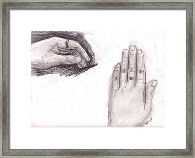 Observation- My Left Hand Framed Print by Katie Alfonsi