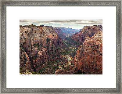 Observation Point - Zion Framed Print