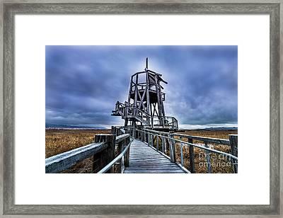 Observation Tower - Great Salt Lake Shorelands Preserve Framed Print by Gary Whitton