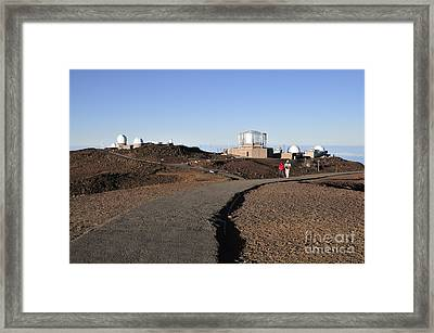 Observatories On Haleakala Framed Print by Andy Smy