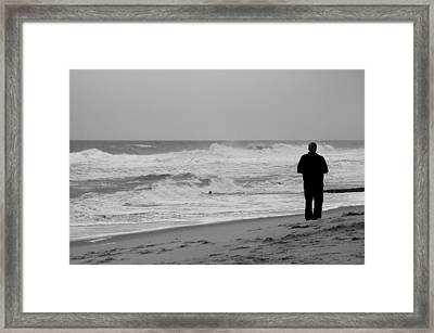 Observing - Jersey Shore Framed Print by Angie Tirado